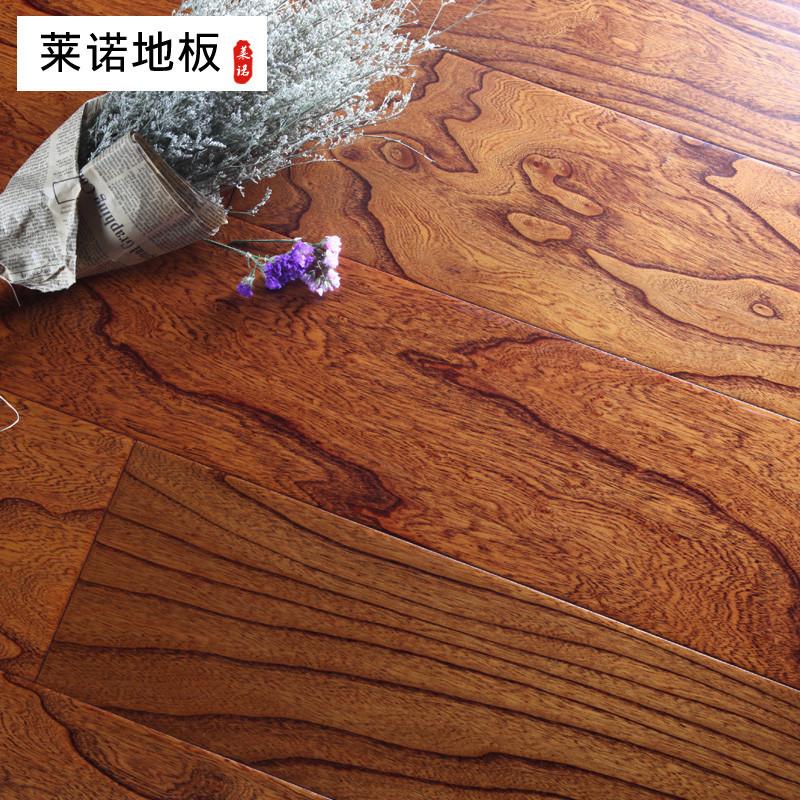 莱诺地板多层实木复合地板 榆木仿古浮雕15mm厚 适用地暖地热 e0环保