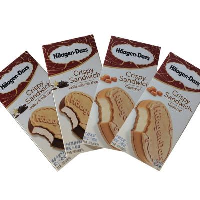 哈根达斯 脆皮三明治冰淇淋雪糕组合 牛奶太妃香草牛奶外裹巧克力味 268g 67g*4盒 两种口味人随机