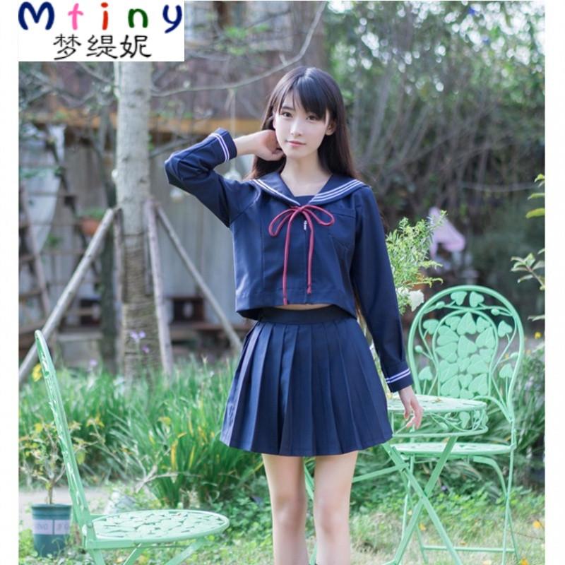 mtiny水手服套装学院风短袖软妹服学生正统日系校服jk