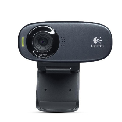 罗技(Logitech) C310电脑摄像头 高清网络视频笔记本YY主播带麦克风高清摄像黑色高清摄像头