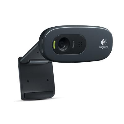 罗技C270高清摄像头实名认证电信移动联通酒店人脸识别免驱电脑摄像头