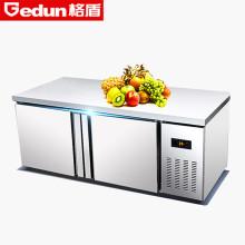 2米不锈钢全冷藏水吧台展示柜保鲜柜冰箱冰柜卧式冰柜冷藏柜厨房操作图片