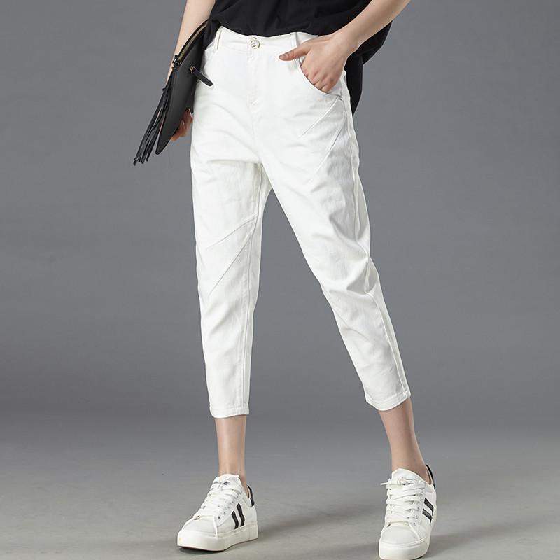 九分裤女白色