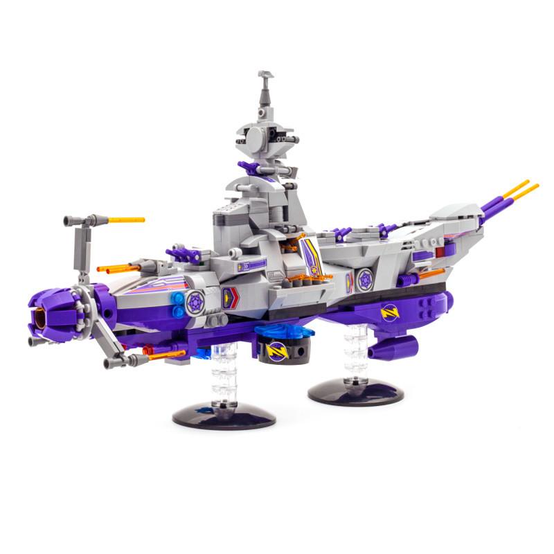 星际战争 星际飞船终结者八合一 兼容乐高积木