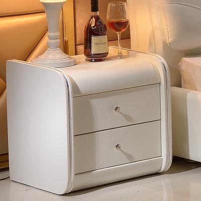 仟嘉恋 床头柜 简约现代卧室床头柜 时尚简约抽屉储物皮质床边柜