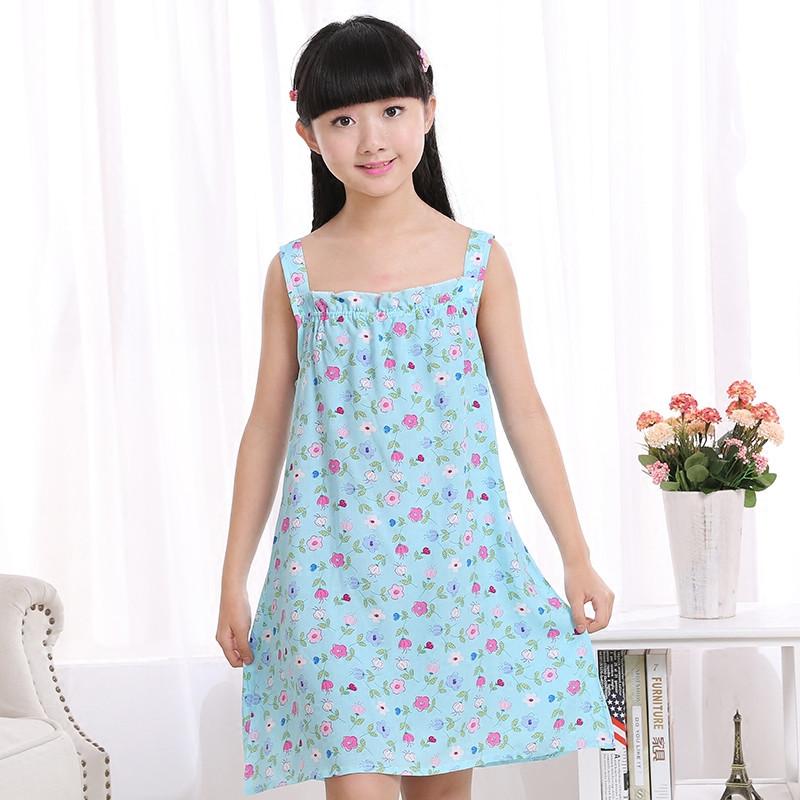 娉语女童大童吊带睡裙 儿童装可爱公主连衣裙子 夏季小孩女孩薄款睡衣