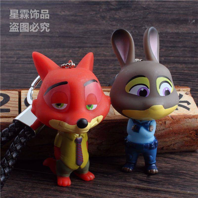 娉语疯狂动物城公仔钥匙扣 兔子朱迪卡通汽车钥匙挂件