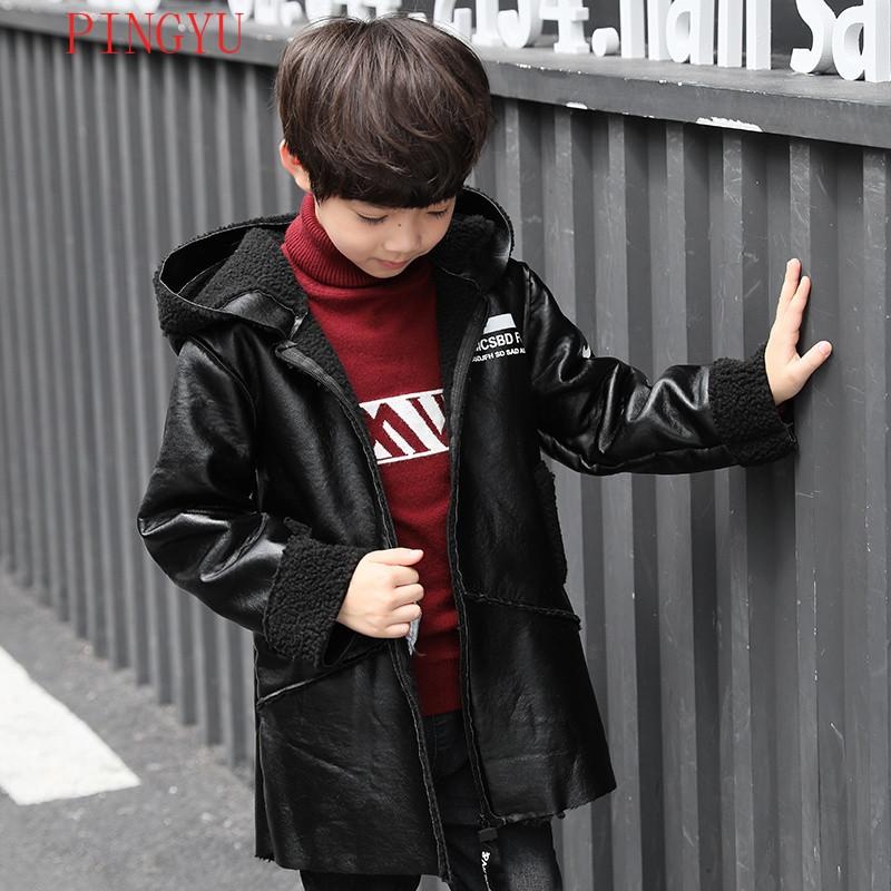 娉语儿秋冬活性男孩小孩新款大皮衣9皮夹克8童装加绒加厚11岁酵素晶体男童外套上衣图片