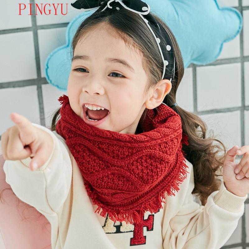 娉语韩版冬季儿童保暖男女宝宝针织围脖套头小孩子围巾韩国公主潮流