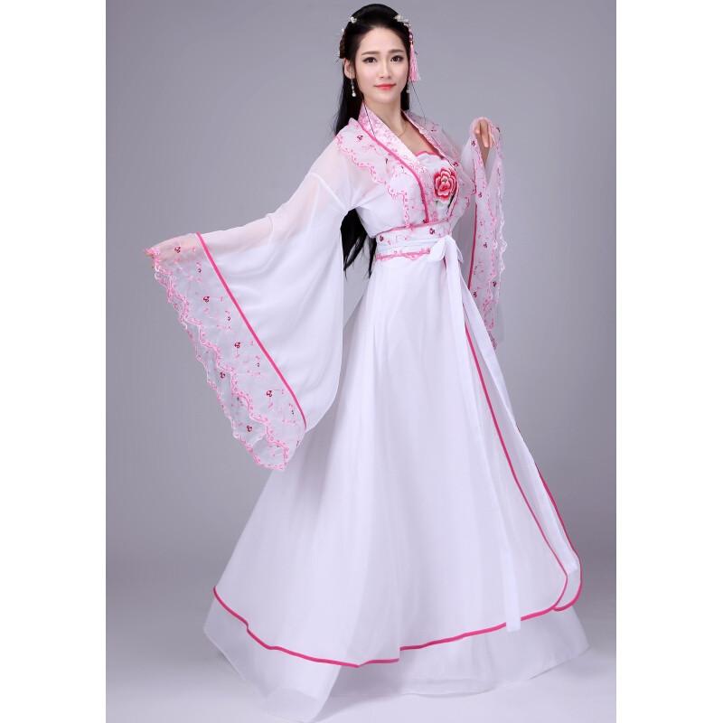 ctrlcity新款仙女古装唐装汉服女唐朝贵妃公主演出服古代服装齐胸襦裙