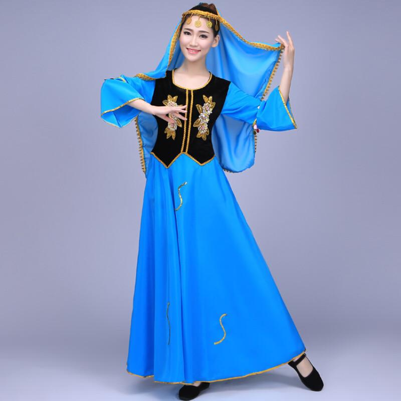 ctrlcity新疆民族舞蹈新款维吾尔族少数民族演出服维族服装新疆舞蹈服图片