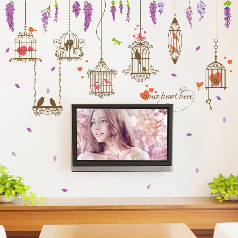 文艺风欧美风电视背景墙贴画卧室宿舍布置客厅房间装饰品墙壁贴纸