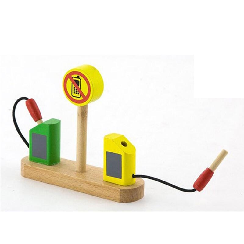 儿童木制益智积木拼搭玩具 仿真大型停车场停机坪