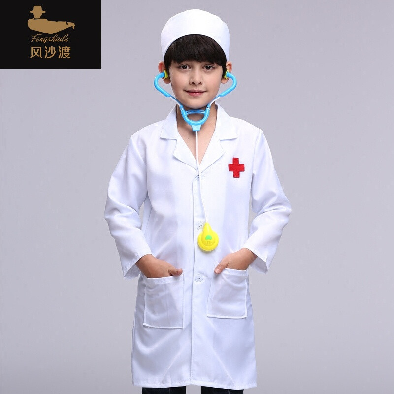 幼儿园厨师职业工作服小厨师角色扮演演出服装 绿色7图片