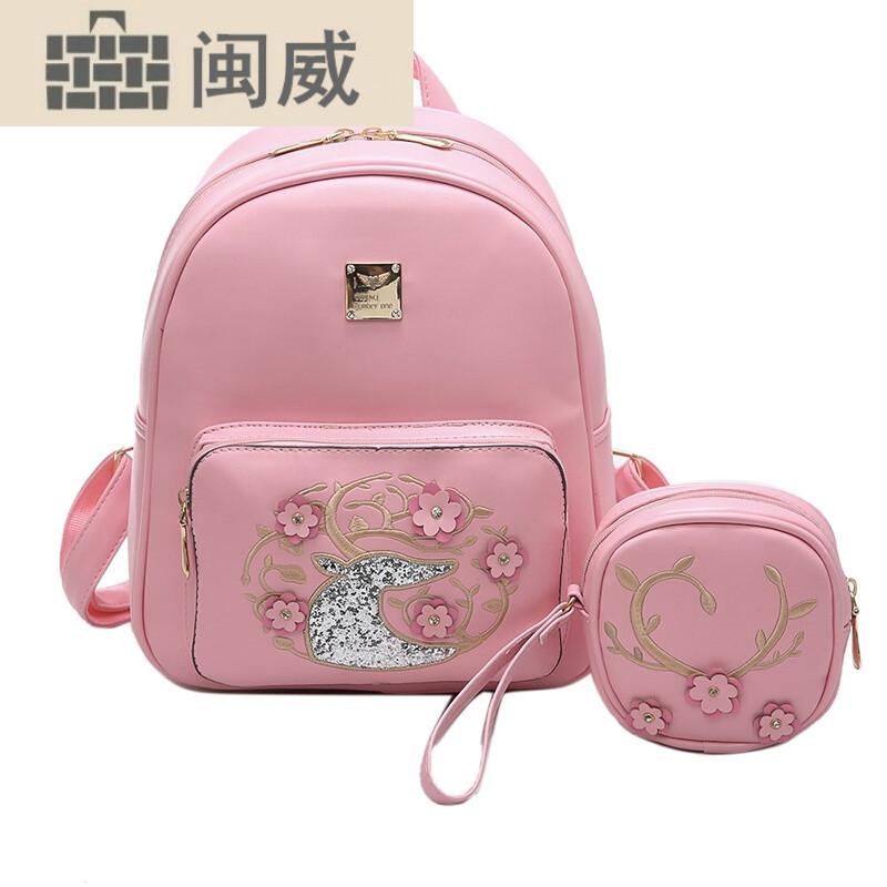 时尚花朵小女孩休闲旅游背包可爱小公主儿童双肩包包