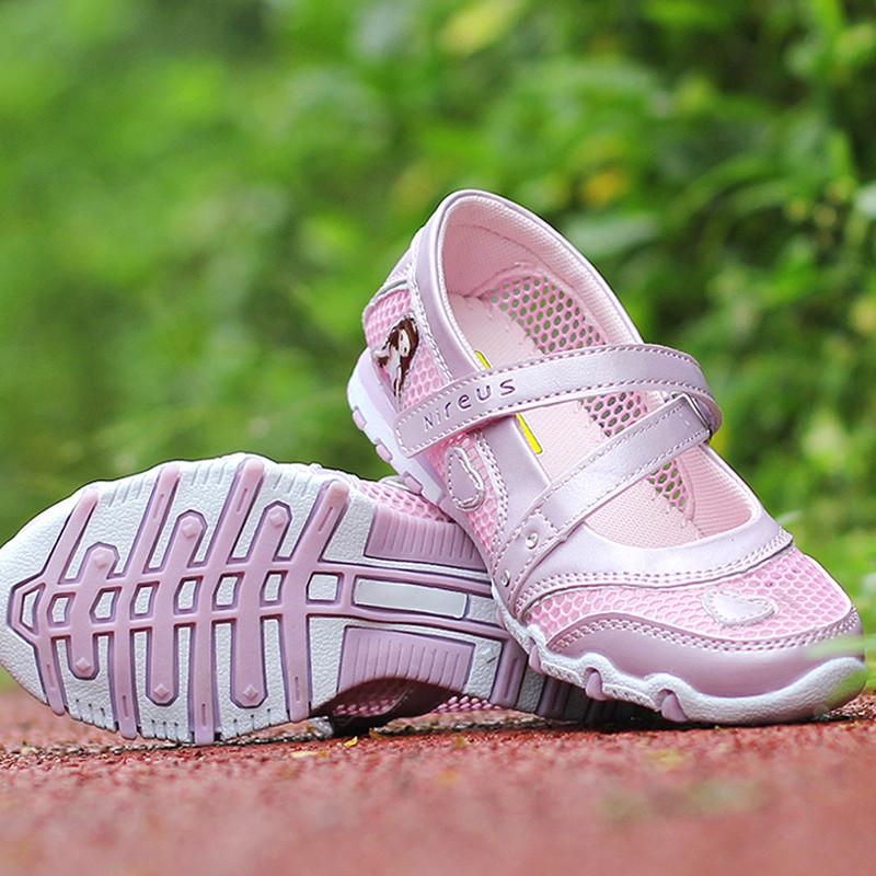 2017儿童鞋子夏季女童网鞋网面透气运动鞋凉鞋女孩网眼鞋中小童公主鞋