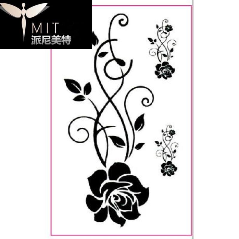 玫瑰纹身手稿 黑白分享展示