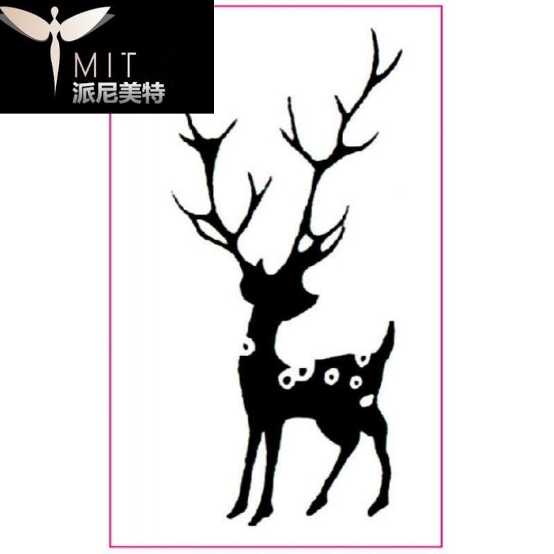 小鹿纹身贴麋鹿 男女款持久文艺梅花鹿 防水小腿纹身贴纸