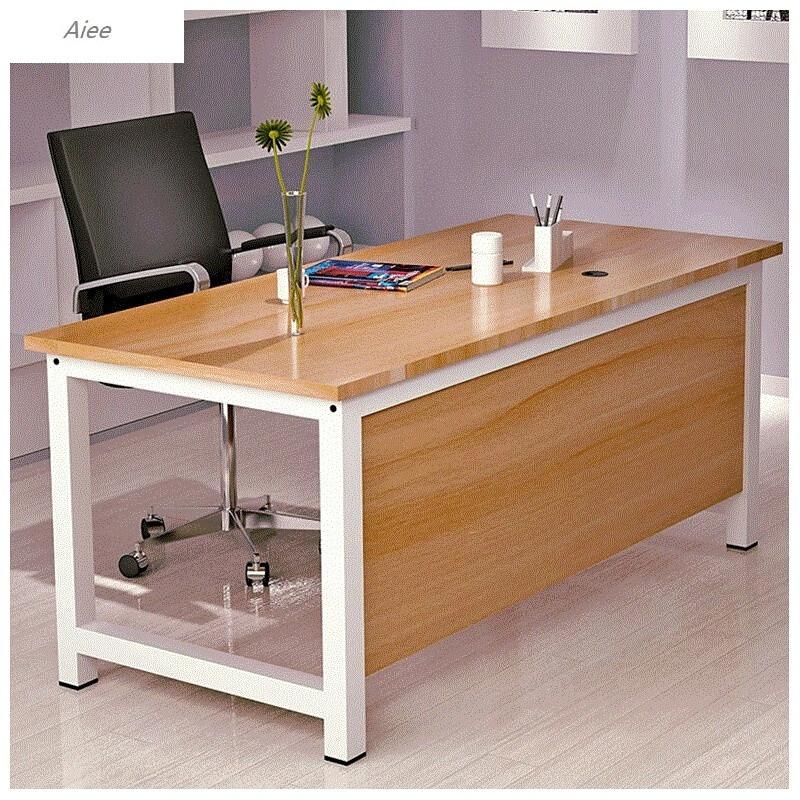 aiee简约单人职员办公桌家用电脑桌台式写字桌简易书桌游戏电竞桌图片