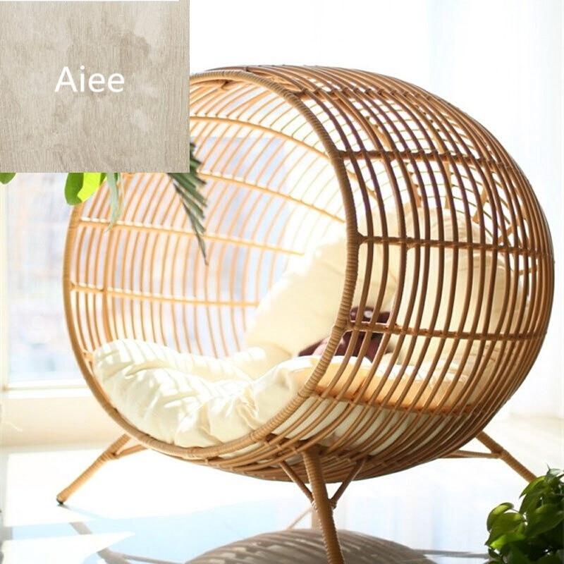 aiee创意家具吊篮藤沙发吊椅儿童秋千藤椅圆形室内阳台户外鸟巢椅雅