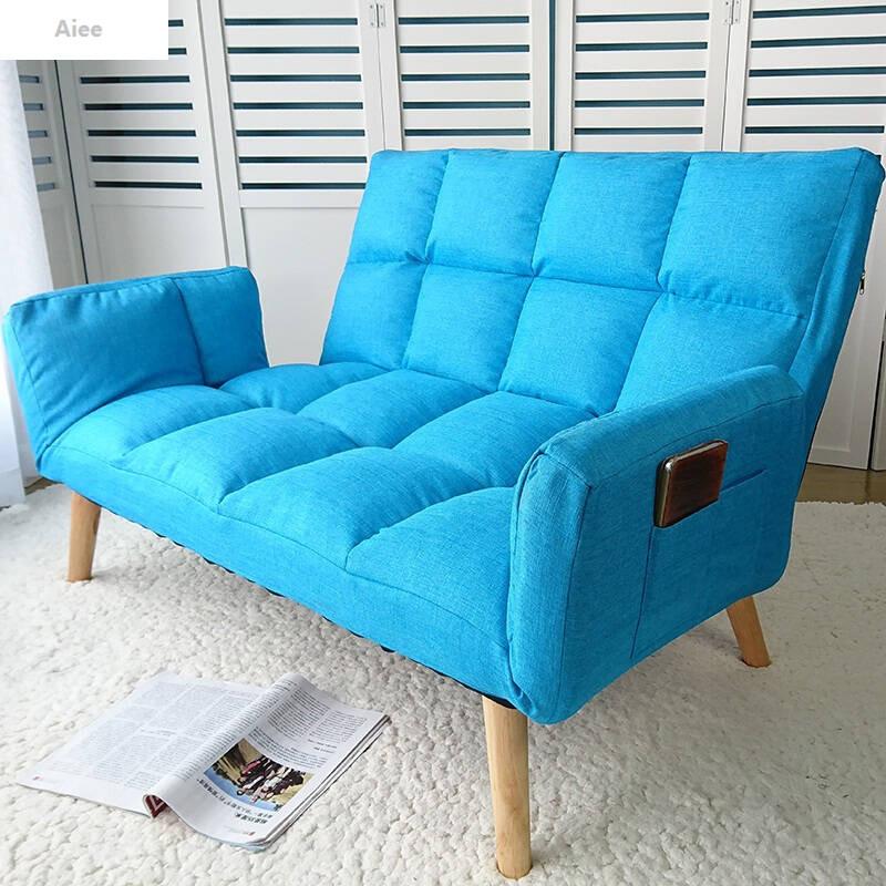 aiee懒人沙发床小户型卧室双人榻榻米可折叠客厅布艺休闲小沙发