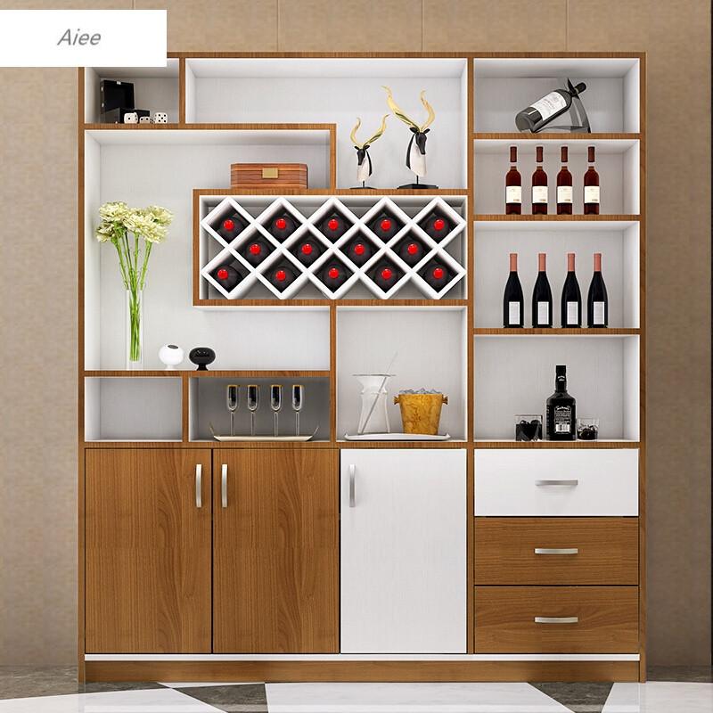 aiee多功能餐厅红酒柜现代简约餐边柜隔断储物柜玄关柜c-502米4*2米图片