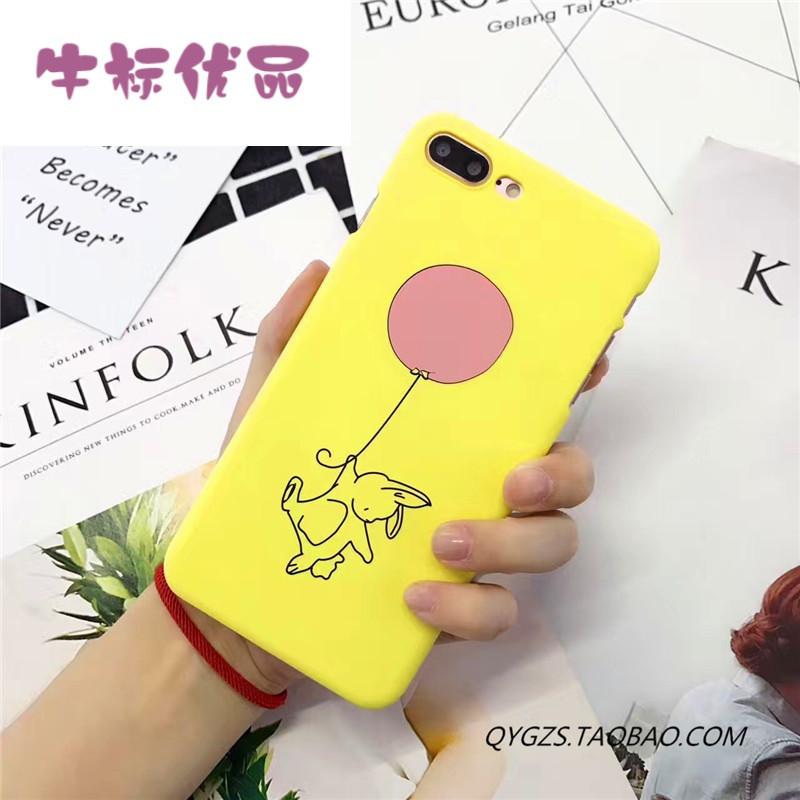 牛标优品可爱手绘兔子气球 苹果6手机壳iphone7/6s/plus创意个性潮