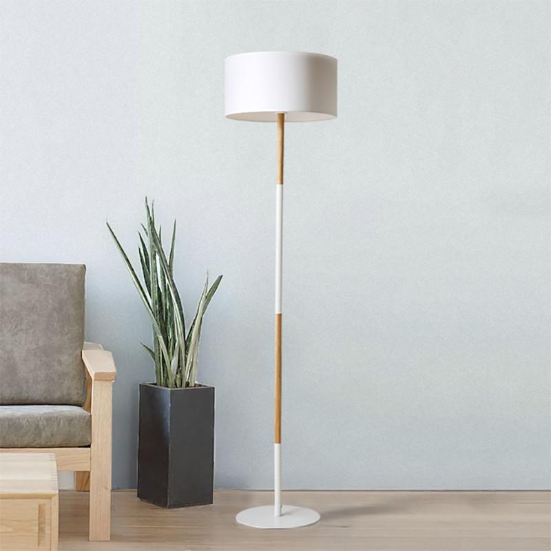 北欧风格简约现代木质落地灯客厅沙发立灯卧室床头柜布艺高脚台灯