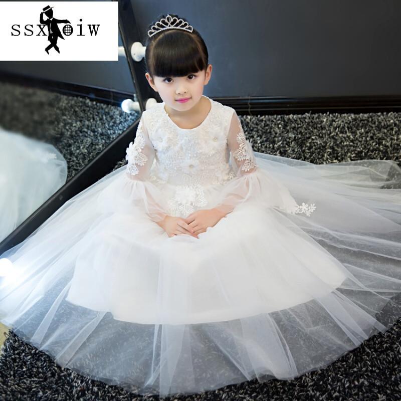 ssxoiw儿童礼服白雪公主裙大童儿童婚纱蓬蓬裙小孩花童生日钢琴演出服
