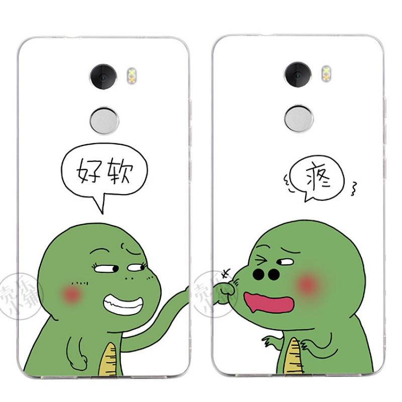 2017款小米4 3 4c 4s红米3x 4a 4高配手机壳保护套卡通小恐龙可爱情侣