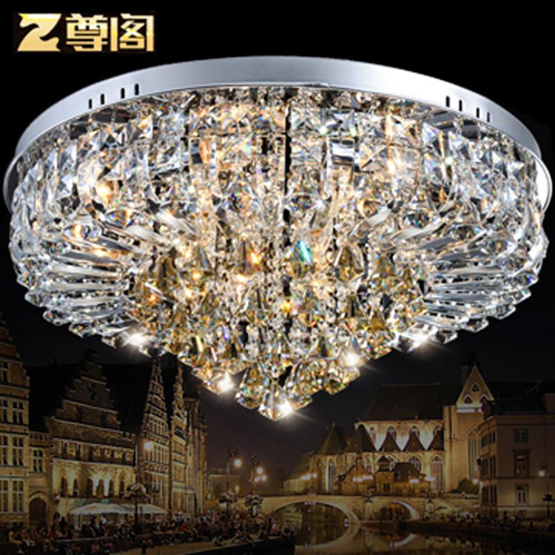 尊阁 圆形水晶灯房间灯卧室客厅灯阳台走廊灯具142led欧式吸顶灯