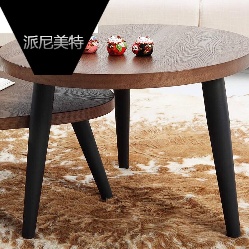 北欧简约茶几小户型圆形咖啡桌创意客厅会客矮桌子休闲小圆桌接待茶艺