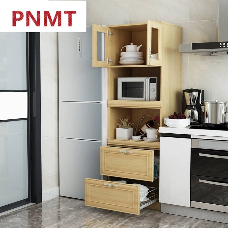 微波炉柜现代简约高餐边柜储物柜餐厅茶水柜厨房碗柜阳台柜含五金拉篮