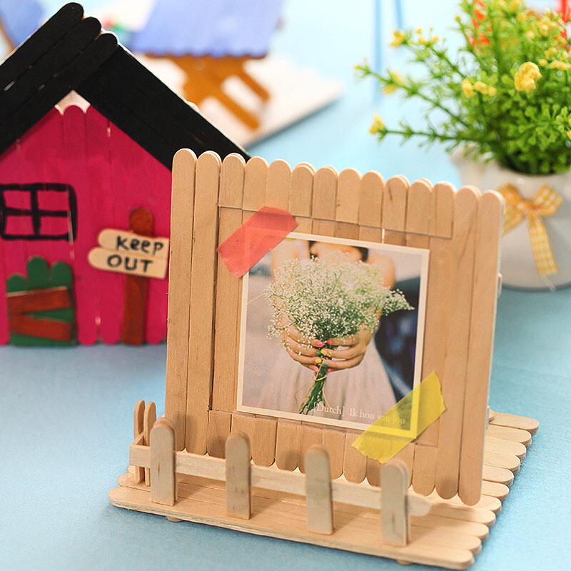 雪糕棒手工制作材料冰棍棒玩具模型工具小木片木棍棒雪糕棍
