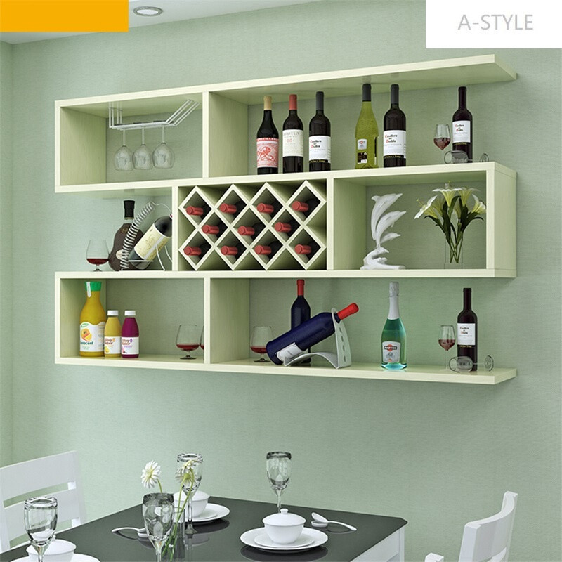a-style现代简约墙上酒柜客厅壁挂式红酒架餐厅挂墙酒柜置物架创意图片