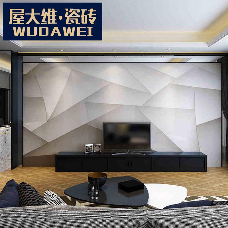 电视背景墙瓷砖现代简约微晶石磁砖客厅大理石墙面砖边框 折纸