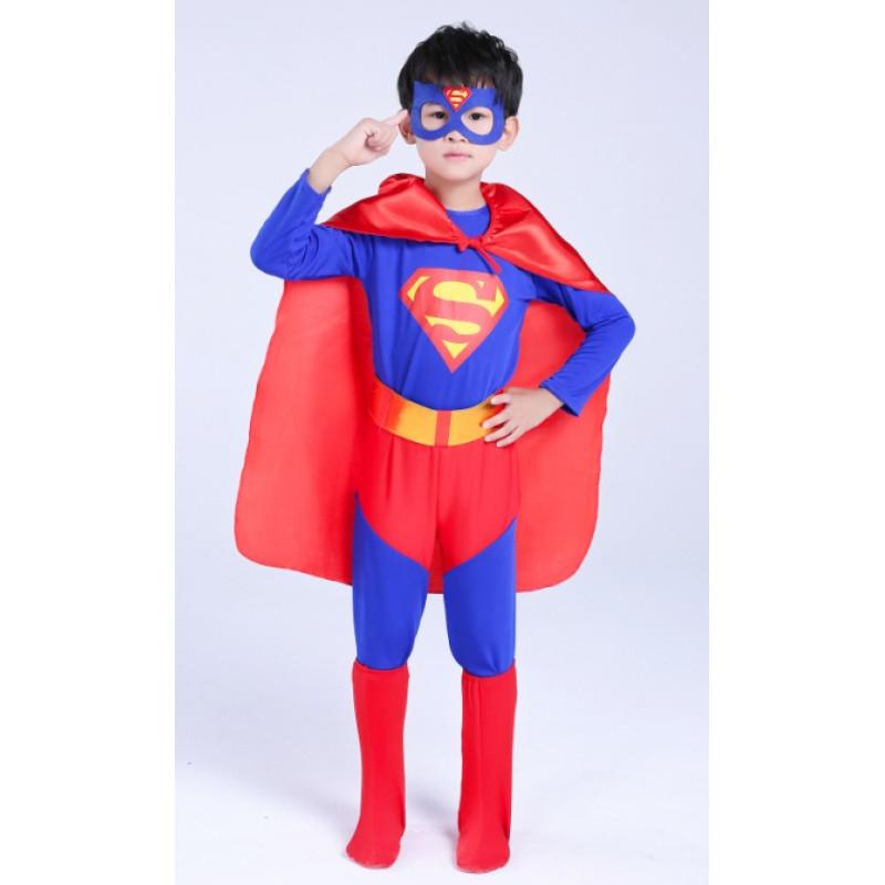 万圣节儿童超人表演服装 cosplay男童迪士尼化装舞会 走秀演出服图片