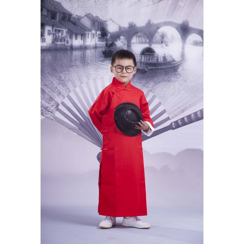 民国长衫相声大褂男式长袍儿童成人快板评书小品演出服装相声服