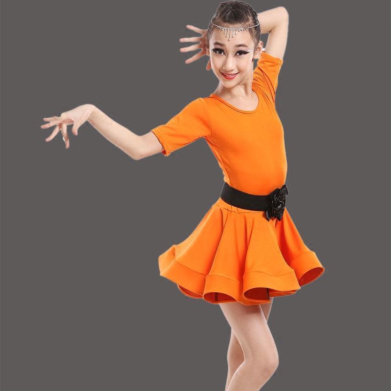 儿童拉丁舞服装新款连衣裙女童拉丁舞比赛演出考级练习规定舞蹈服图片图片