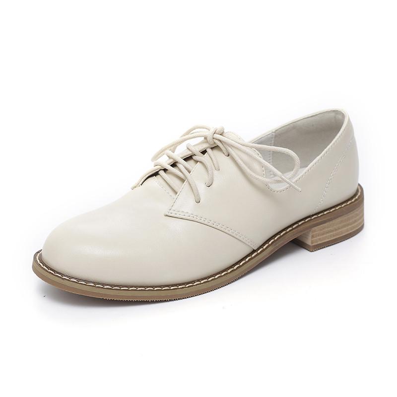 软妹小皮鞋女学生2017秋季新款韩版百搭粗跟复古英伦风单鞋女平底