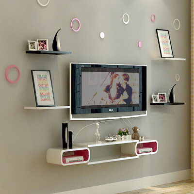 古達 烤漆機頂盒架電視背景墻置物架客廳壁掛電視柜臥室DVD托架