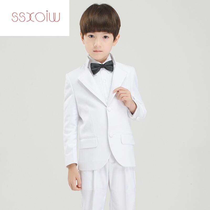 ssxoiw男童婚礼西装套装花童礼服春款大童西服儿童钢琴演奏礼服