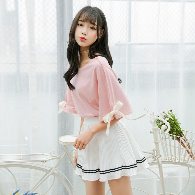 902新款可爱套装裙2017夏季新款韩版学院风两件套女甜美小清新学生