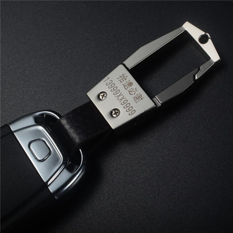 902新款送螺丝刀优品皮质汽车钥匙扣男士腰挂宝马奥迪奔驰大众本田