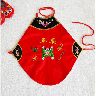 902新款春夏季嬰兒肚兜男女寶寶肚兜肚圍兜兜紅色平安五毒0-3-6個月1-2歲定制