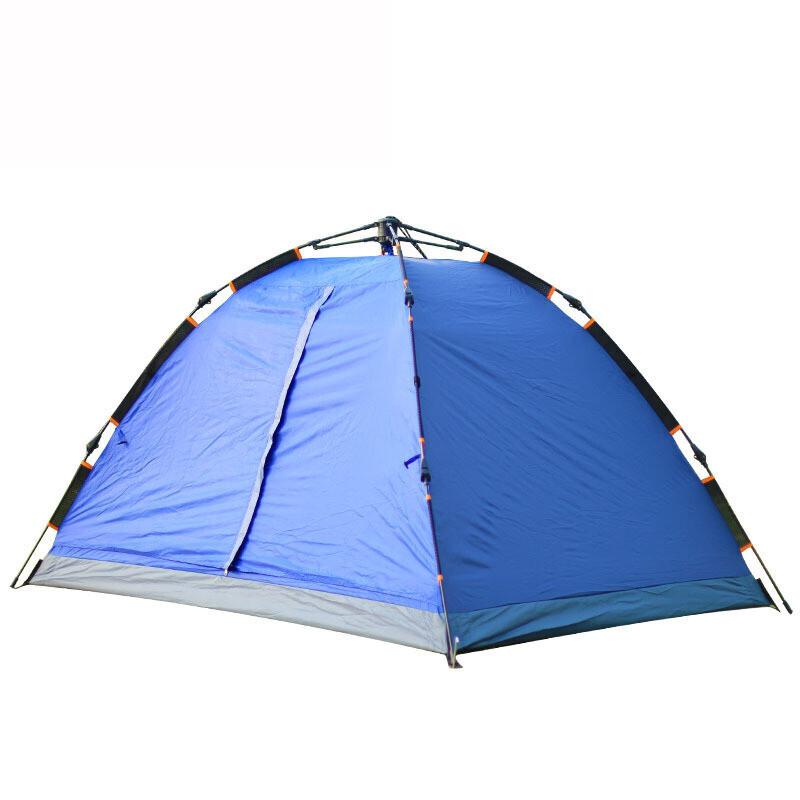 户外双人双层全自动帐篷免搭建速开帐篷 露营休闲纱网