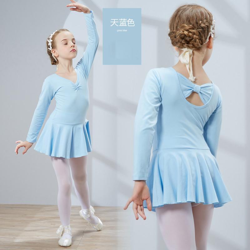 儿童舞蹈服装女童长袖秋季幼儿练功服少儿芭蕾舞考级演出服