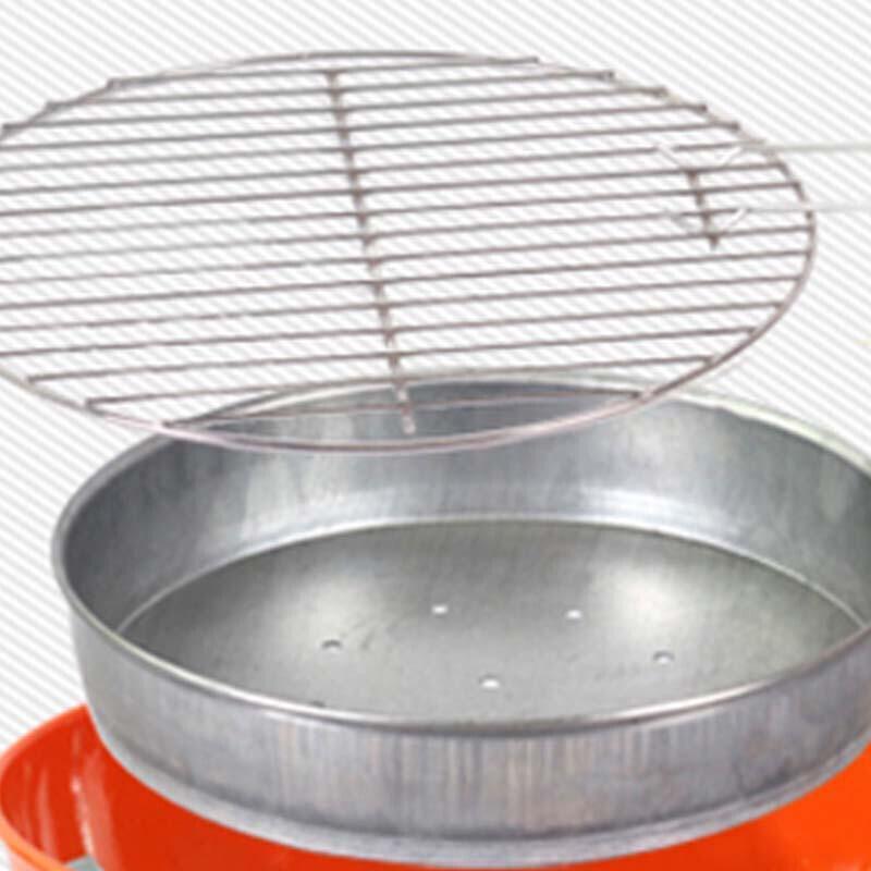晅曜户外圆形烧烤炉圆形木炭烤肉炉子家用烧烤架子ssx
