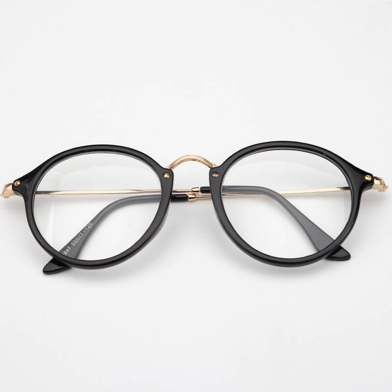 徐氏户外新款平光镜复古圆形可爱萌框架眼镜框可配近视眼镜2447
