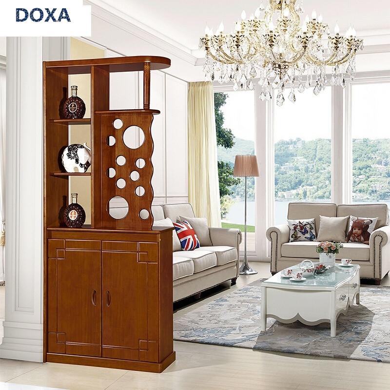 doxa全实木玄关隔断柜中式间厅柜隔厅柜酒柜鞋柜小户型客厅屏风装饰柜
